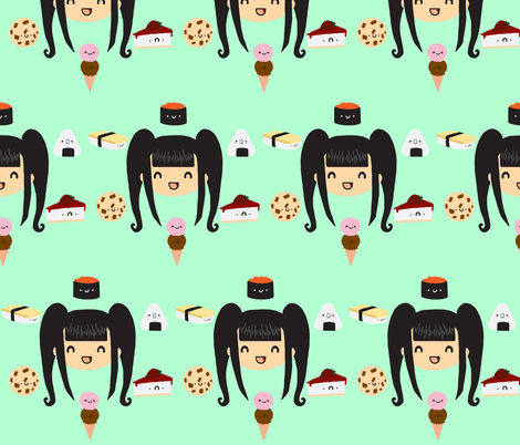 Delicious! fabric by izolas on Spoonflower - custom fabric