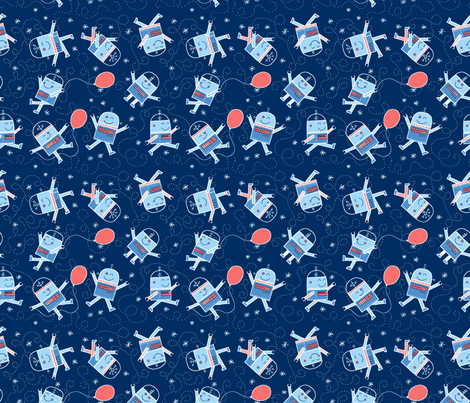 Robot Fun-ch fabric by ginamatarazzo on Spoonflower - custom fabric