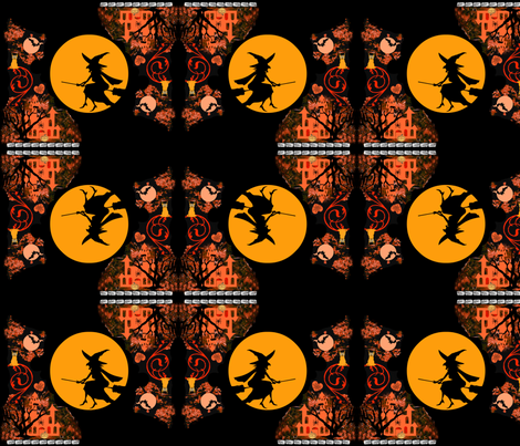 Hallo Kitty witch fabric by paragonstudios on Spoonflower - custom fabric