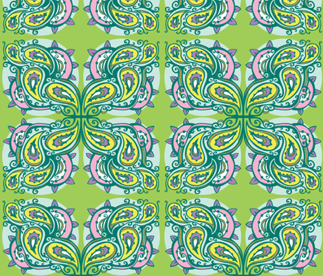 A Pastel Paisley fabric by tessiegirldesigns on Spoonflower - custom fabric