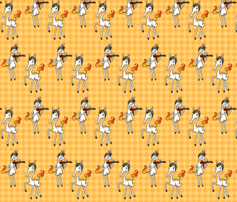 Mango Zebras fabric by jadegordon on Spoonflower - custom fabric