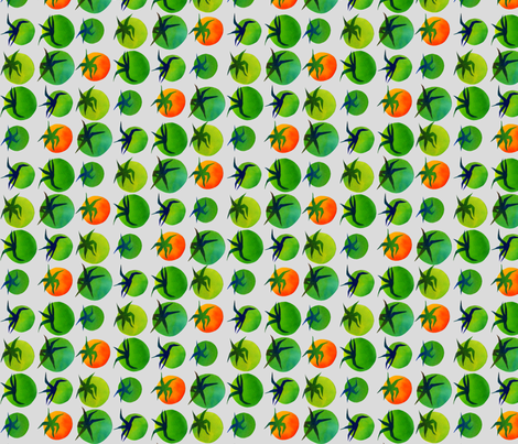 My Green Tomatoes (alt) fabric by spellstone on Spoonflower - custom fabric