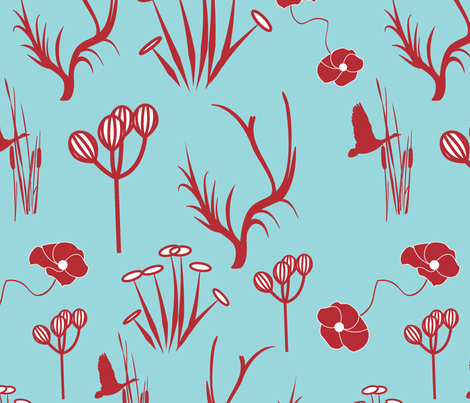 way-thru-forest fabric by guapa on Spoonflower - custom fabric