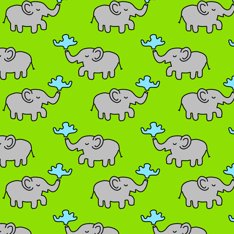 Elephants at Play fabric by klingercreative on Spoonflower - custom fabric