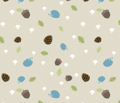 Woodland Friends - Hedgehogs on cream