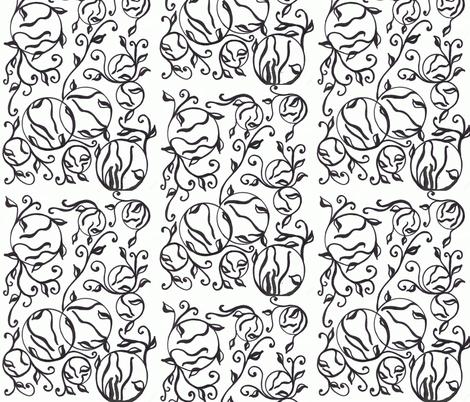 black_on_white fabric by charldia on Spoonflower - custom fabric