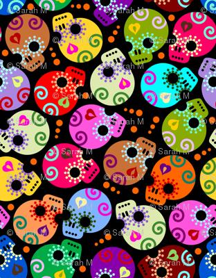DOTD skulls black small