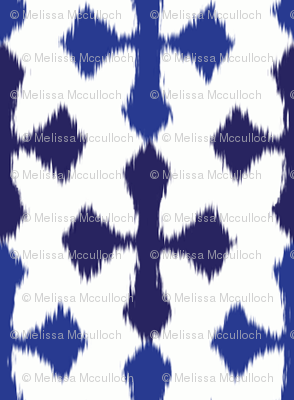 ikat stripe - blue