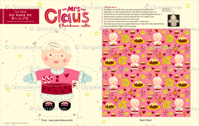 Mrs Claus Loves Plum Pudding Doll Pattern