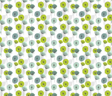 Dandelion fabric by texture on Spoonflower - custom fabric