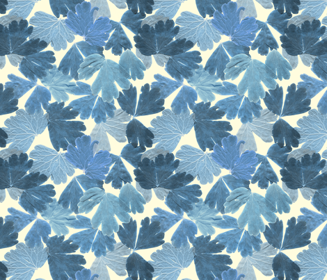 BLUE LEAF fabric by comfortablyblue on Spoonflower - custom fabric