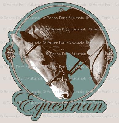 Elegant Vintage Dressage Horse Lovers