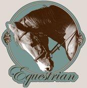 Rrrrrrequestrian_elegant_sepia_horse_framed_2_shop_thumb