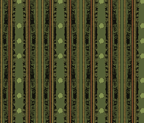 Hunters Stripe Green fabric by karendel on Spoonflower - custom fabric