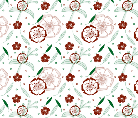 Autumn in the garden fabric by happyhangaround on Spoonflower - custom fabric