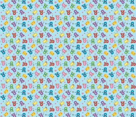 Cute Mice  fabric by mandyd on Spoonflower - custom fabric