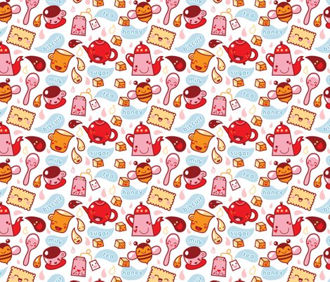 Tea Time! fabric by bora on Spoonflower - custom fabric