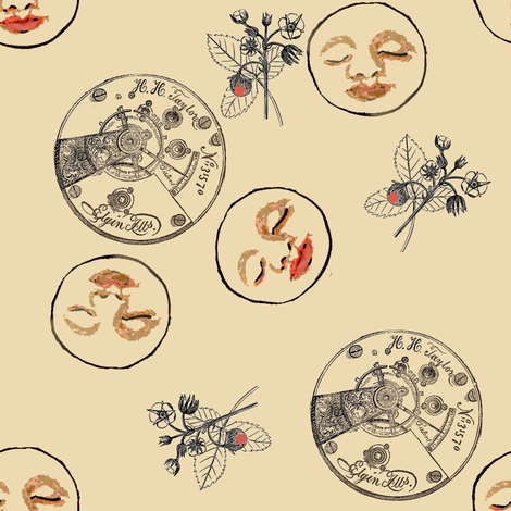 Faces fabric by nalo_hopkinson on Spoonflower - custom fabric