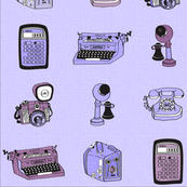 vintage technology - purple