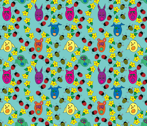 crawling_with_kawaii fabric by chewytulip on Spoonflower - custom fabric