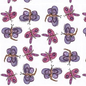Purple and Pink Butterflies