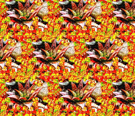 Sunny Succulents fabric by robin_rice on Spoonflower - custom fabric