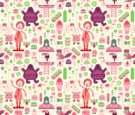 makodonoran 4 up fabric by jevaart on Spoonflower - custom fabric