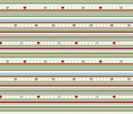 Woodland Stripe - Red fabric by inktreepress on Spoonflower - custom fabric