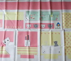 kawaii kitty tote bag pattern (1yrd)
