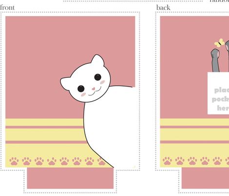 kawaii kitty tote bag pattern (1yrd)
