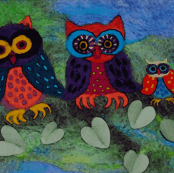 Three Owls on a branch