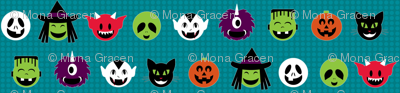 Kawaii Halloweenies - Teal
