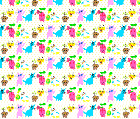Eislinn's Kawaii Friends fabric by eislinn on Spoonflower - custom fabric