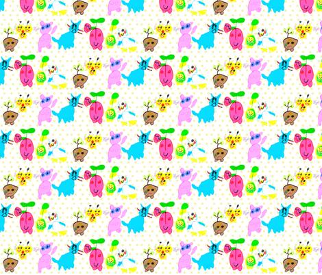 Eislinn's Kawaii Friends fabric by eislinn on Spoonflower - custom fabric