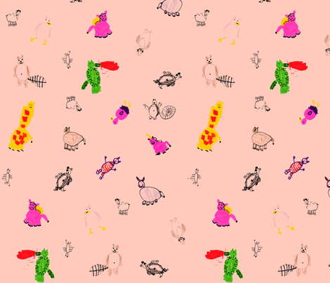 Animal Zoo Party fabric by eislinn on Spoonflower - custom fabric