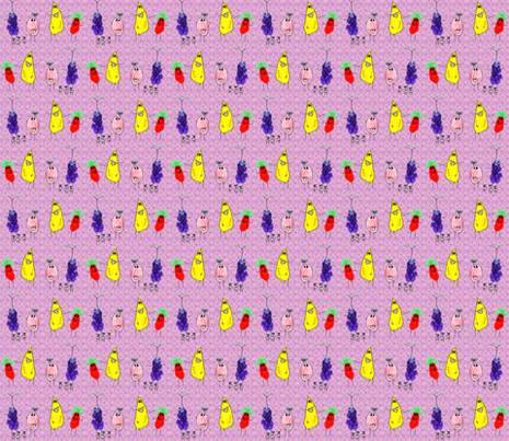 A Very Fruity Conga Line fabric by eislinn on Spoonflower - custom fabric
