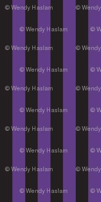 Halloween black/purple stripe