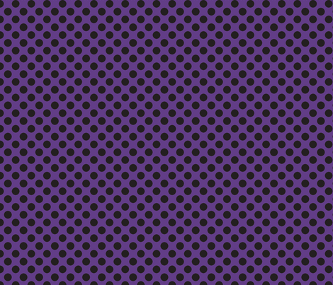 Halloween Purple w/ black dots fabric by bellamarie on Spoonflower - custom fabric