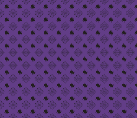 Halloween Spider Purple fabric by bellamarie on Spoonflower - custom fabric