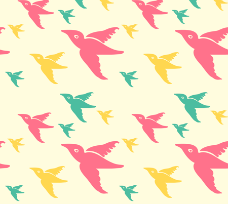 larger birds fabric by narthex on Spoonflower - custom fabric