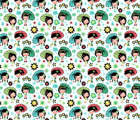 Sunshine Cuties fabric by happyjonestextiles on Spoonflower - custom fabric