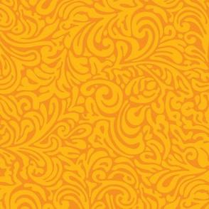 swirl botanical - naranja
