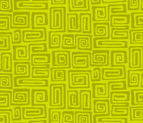 square spiral - olive fabric by monmeehan on Spoonflower - custom fabric