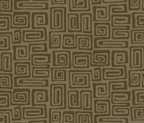 square spiral - java fabric by monmeehan on Spoonflower - custom fabric