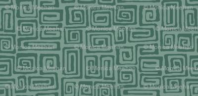 square spiral - verdigris