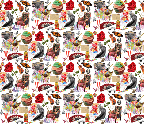 Crazy Art fabric by eskimokissez on Spoonflower - custom fabric