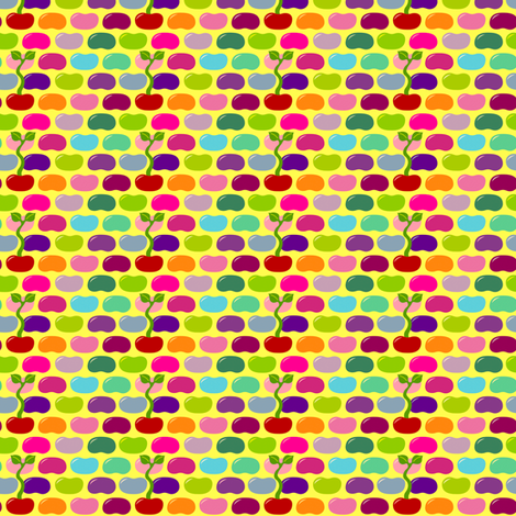 Jelly Bean Sprouts fabric by beeskneesindustries on Spoonflower - custom fabric