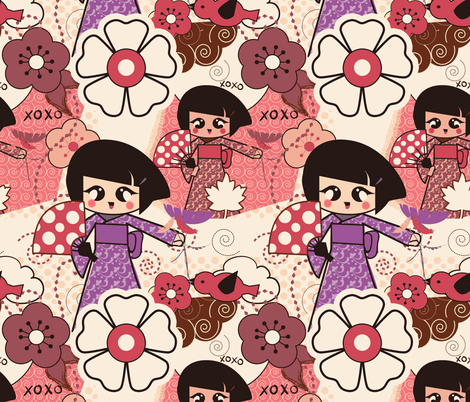 Kawaii Art fabric by koala_prints on Spoonflower - custom fabric