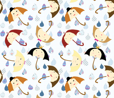 It's all in the air fabric by shiny on Spoonflower - custom fabric