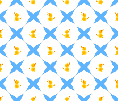 Duckies fabric by joanmclemore on Spoonflower - custom fabric